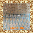 Plastic Diamond clear color crystal rhinestone mesh trimming net roll 24row