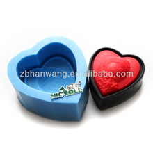 purple heart shape with baby girl silicone soap molds R1236
