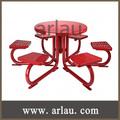 Público anti- ferrugem ferro mesa de jantar e cadeiras( tb- n91)