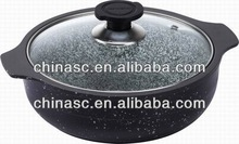 Die cast stainless steel insulated enamel pot