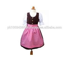 2014 new design bavarian dirndl dress, kinder dirndl dress