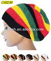Rasta reggae& los hombres las mujeres ganchillo hecho a mano de punto elástico baggy beanie sombrero