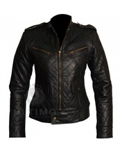 ALICIA WITT BLACK LEATHER JACKET