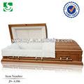 venda quente estilo americano de madeira exportados ofício para o caixão