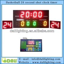 Hight brightness outdoor led scoreboard with 24 shot clock