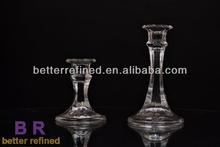 Finish design glass candle holder