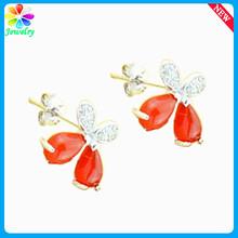 Dazzling Natural Ruby Stud Sterling Silver Earring Eardrop For Women