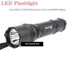 Made in china Manta Ray M5 Cree XM-L2 5-Mode super bright police led flashlight
