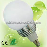 e14 pure white led bulb 3w light and bulb