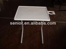 Table mating bed mate table mate with cup holder