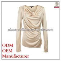 ladies elegant stylish design long sleeve neck designs pictures of blouse