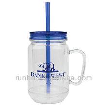 20oz amber colored aladdin mason jar tumbler water bottle RH138-20