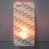 LED Transparent sublimation phone case with aluminum sheet