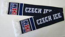 100% acryl knitted fan scarf schal