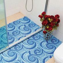 eco friendly pvc foam printed anti-slip roll mat anti-bacteria bath rug