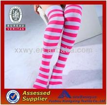 Wholesale Cheap Custom Red and White Stripes Ladies Leg Warmer Socks