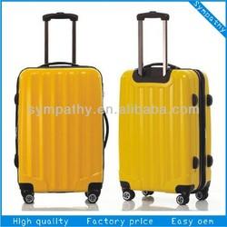 Custom ABS luggage set/carry-on luggage/travel trolley luggage bag/case