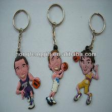 NBA Star PVC Keychain, Lakers, Nuggets, Heats, Rockets