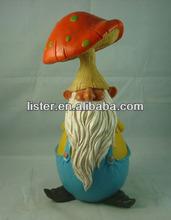 Wholesale Garden Gnome with Mushroom,Garden Dwarf Arts for Garden Decoration