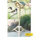 Série jardim, madeira casa do pássaro com suporte