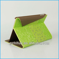 Green leather stitching cover case for ipad