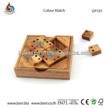 Color Match 12 Pieces Wood Puzzle Educational toys and games