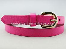 100% genuine leather dress belt for stylish lady