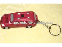 2013 Best Sell Pu foam car with keychain toy antistress stress pu car