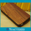 Wood leather mobile flip case for Apple Iphone 5G 5S