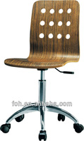 Bentwood swivle japanese restaurant chairswith wheels(FOH-RC101)