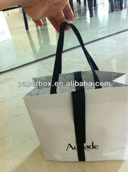 black ribbon handle bow tie paper packing bag gift bag
