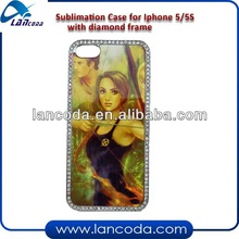 sublimation bling cell phone case cover for iphone5/5s