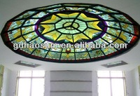Glass decoration ceiling dome stained glass