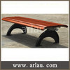 Top quality backless wood bench with cast iron legs FW11