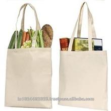 Recycled Organic Canvas Die Cut Shopping Bag
