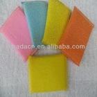 colorful plastic fibre kitchen bowl cleaning sponge