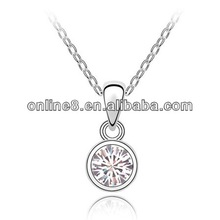New Arrival Crystal Necklace,crystal pendant stainless steel chain mail