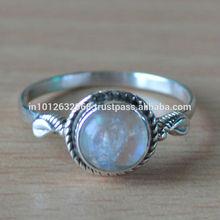 Natural Rainbow Moonstone Gemstone RIng, 925 Sterling Silver Ring,2014 Style 925 Sterling Silver Gemstone Eye Skull Ring for Men