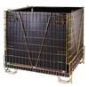 PET Preform industry stackable folding metal cage F28