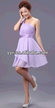 2014 NEW YYH lovely cute Lavender Formal Wedding Bridesmaid short Evening Dress