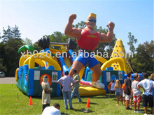 Popular adult inflatable Iroman Challenge obstacle course