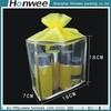 simple fashional transparent glossy drawstring pvc cosmtic bag