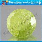 Cubic zirconia beads yellow round cut ice cz stone