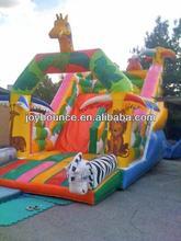 funny giraffe inflatable game animal slides for kid