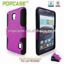 high quality mesh mobile case for lg optimus f6