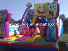 outdoor kids inflatable spongebob slide