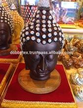 Thai Buddha statue Handmade shell with crystal on head
