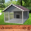 Wooden Dog Kennel With Run DFD3013