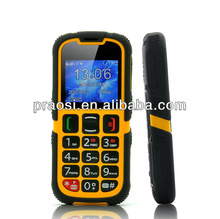 Color screen Outdoor unlock IP67 rugged phone/waterproof elder cell phone with big keyboard/SOS key phone for old aged people