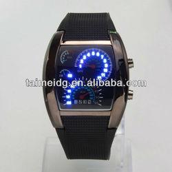 Hot blue led speedometer watch